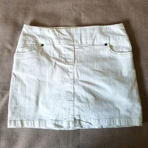 Reitman's White Denim Skirt/Skort
